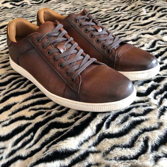 896007458be Men's Steve Madden Brown Leather Sable Sneaker